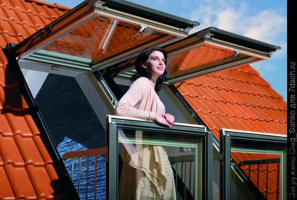 Мансардное окно - балкон