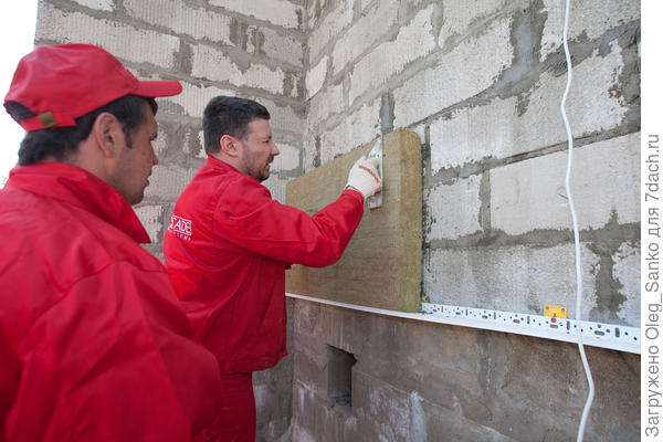 Теплоизоляция наружной стены