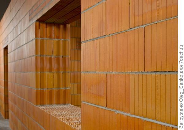 Выложенная из поризованных блоков, стена может постоять некоторое время и без облицовочной штукатурки