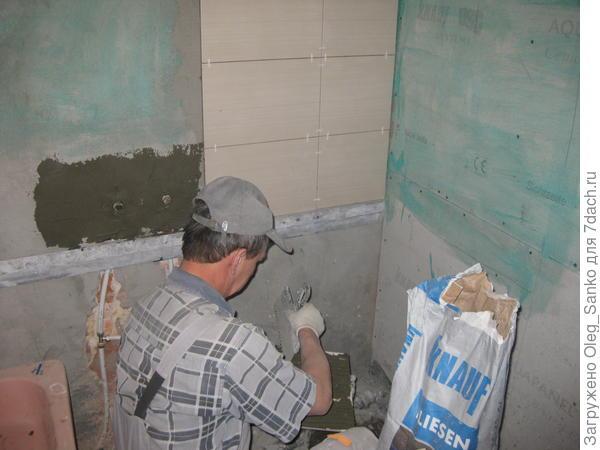 Укладка настенной плитки