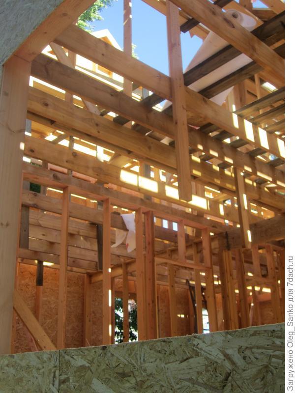 Каркасный дом- второй месяц сооружения