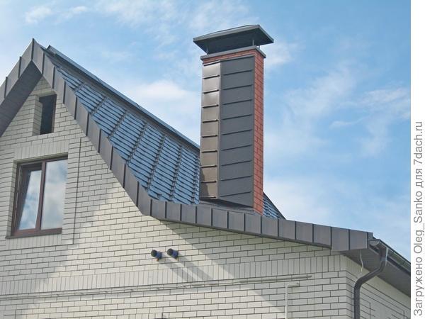 Фигурная металлическая крыша