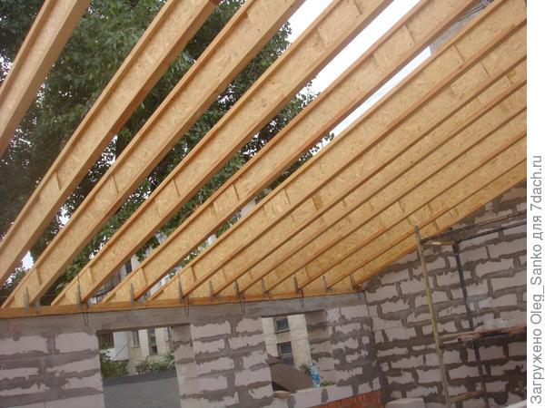 Применение деревянных балок при строительстве