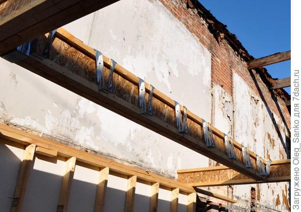 Применение деревянных балок при ремонте