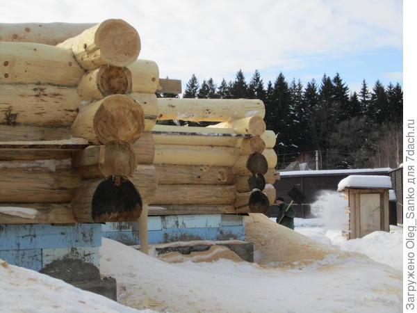 Теплоизоляция фундамента бревенчатого дома
