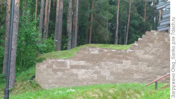 Подпорная стенка на холмистой местности