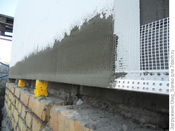 Утепление по технологии мокрого фасада.