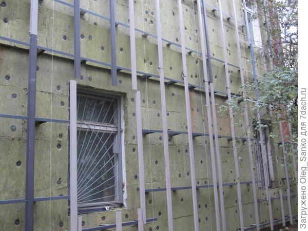 Скелет вентилируемого фасада