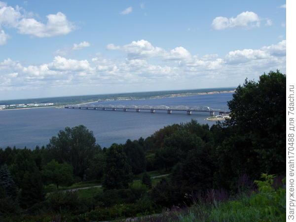 наш старый мост в самом узком месте Волги