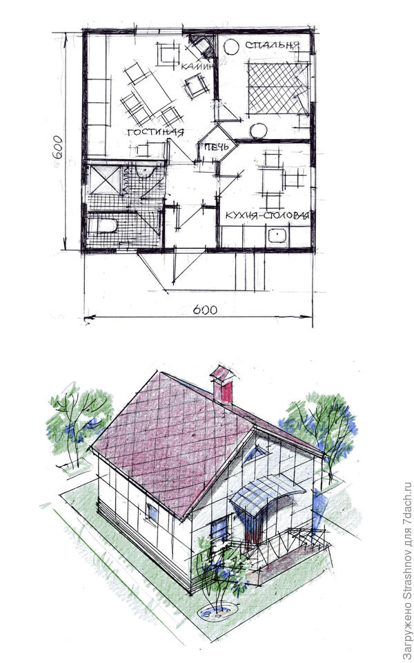 план-фасад