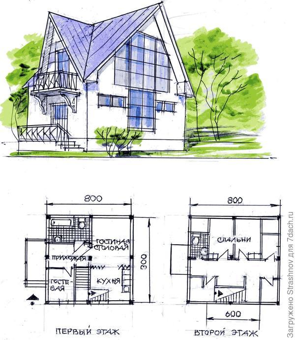 план и  фасад