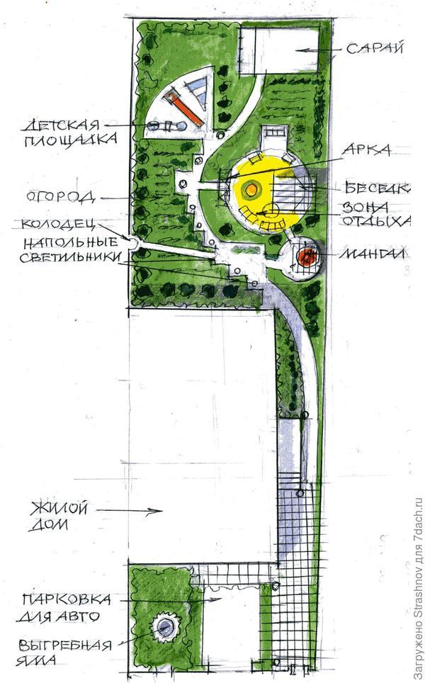 план участка, состоящий из двух  зон