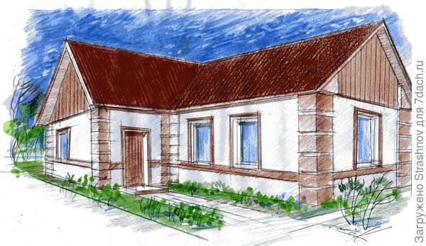 пример цветового решения фасада