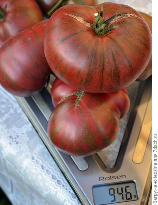 Вес 4 помидорок