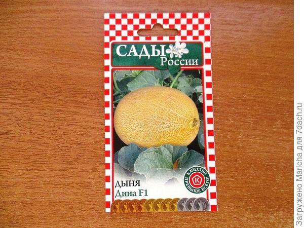 Пакетик от семян дыни Дина