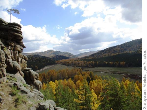 Та же долина осенью