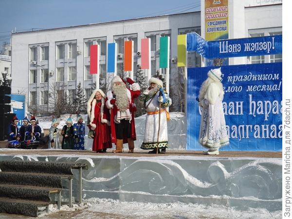 Финский Санта-Клаус с супругой,
