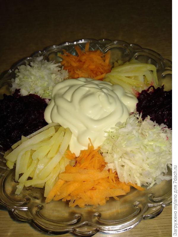 Мясной салат - Чафан - отрада для глаз, источник витаминов