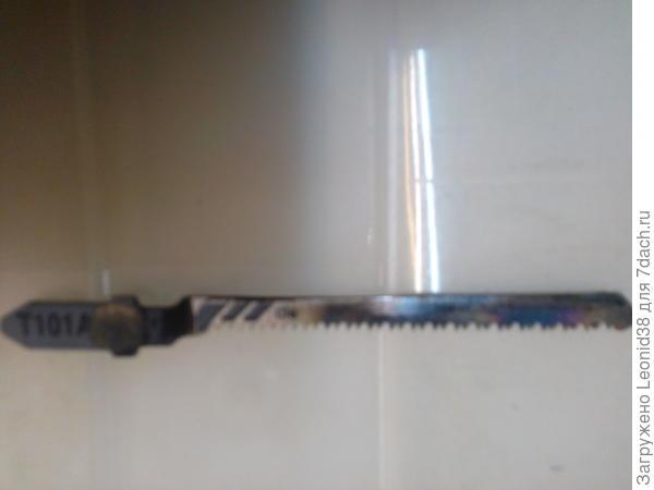 пилка для чистого реза, фирмы Бош, узкая и с мелкими зубьями