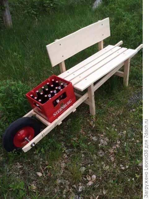Вашему мужу понравится такая скамейка