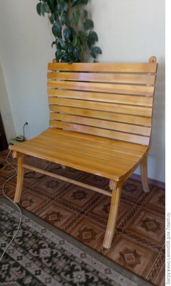 скамейка для зоны отдыха, сделал 4 штуки разные