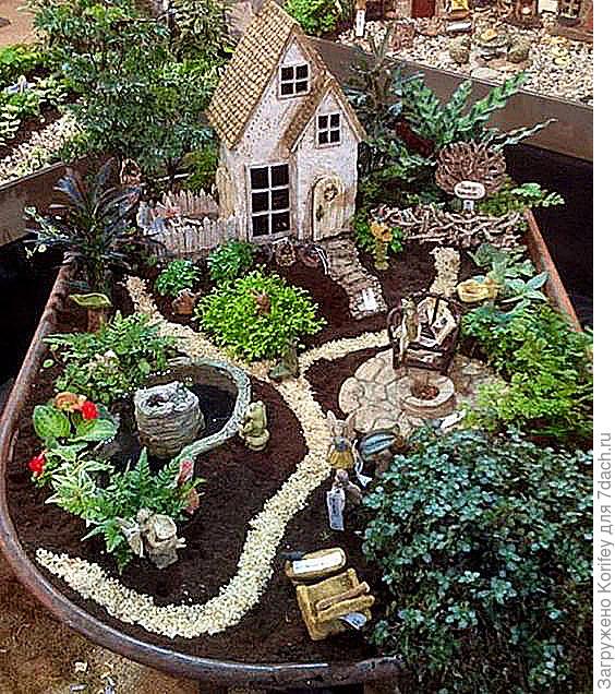 Или вот такой вариант миниатюрного сада