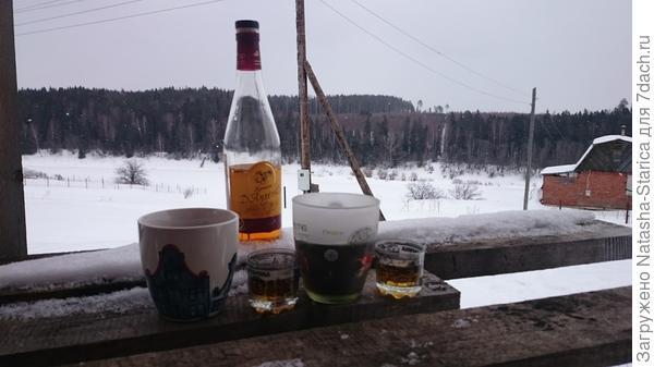 Январь...печки нет...греемся)))