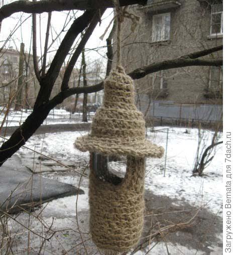 Оплетенная веревкой бутылка-фото с просторов интернета