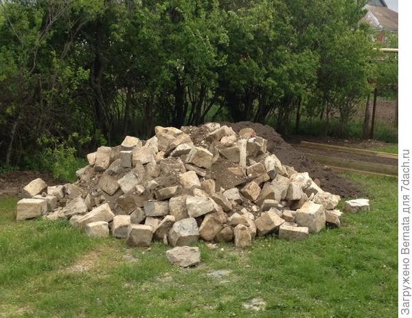 Новые камни для клумб