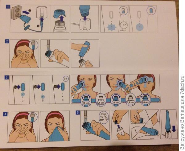 """Как пользоваться? А как хотите=)) Можно массировать сухое лицо, можно влажное, а можно с гелем для умывания. Желательно, сначала умыться, а потом еще и помассировать мордаху в течение одной минуты. Режим вибрации рассчитан на три этапа по 20 секунд каждый. То есть, одна щечка 20 секунд, вторая... и подбородок. Можно, конечно, и два сеанса подряд провести, и три ... Можно, но не нужно =)), так как чрезмерное увлечение несерьезным, казалось бы, массажиком, грозит покраснением и раздражением кожи на вашем личике. Лучше всего, два раза в день по одной минуте.  Штуковина Visa Pure полностью гидроскопична, поэтому пользоваться ей можно, лежа в ванне или находясь под душем. Мне это нравится=)) И если по утрам я лишь умываюсь холодной водой, не используя ни мыло, ни гель.., то по вечерам, сняв макияж, можно помассировать и очистить уставшую мордашку, при этом даже получить удовольствие. То есть, тщательно умыться, при этом ни прилагая никаких физических усилий. Ну как... почистить зубы электрической зубной щеткой. Можно вручную.., а можно и с помощью """"инструмента"""".  Зарядки аккумулятора хватает на месяц при ежедневном использовании. Устройство очень простое, поэтому зарядки аккумулятора и хватает на довольно большой срок... Как сказал мой муж - """"простая дрель и то сложнее устроена""""=))) Хм... Понятия не имею, как устроена дрель =)) В комплекте имеется две щеточки-для обычной кожи и для чувствительной. Я пока пользуюсь обычной. Можно дополнительно купить щеточку для глубокого пилинга. В комплект она не входит."""