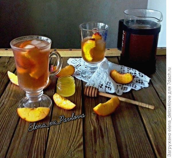 чай, персики, мед