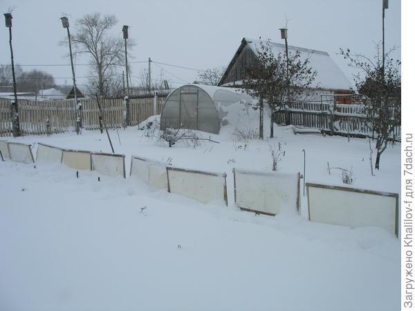 Задерживаем снег - запасаемся влагой