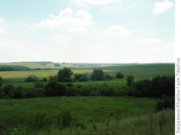 Я стою на Татарстанских землях, а дальние пригорки это уже Оребуржье.