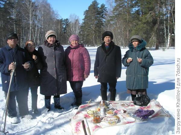Проводы зимы в зимнем лесу.  (Инициаторы работники дома культуры села)