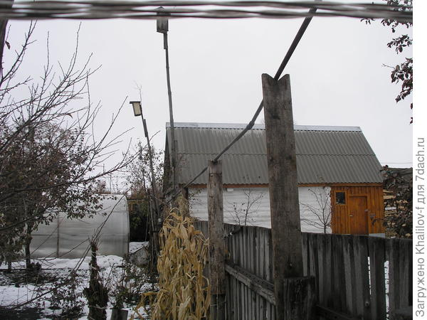 Вода с крыши в емкость за 20 метров.