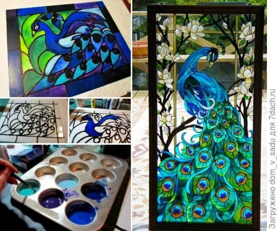 Живописный витраж. Источник: designsponge.com