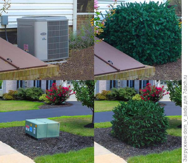 Маскировка садовых объектов. Фото с сайта hammacher.com
