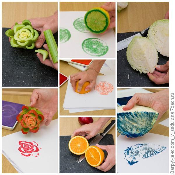 Штампы из овощей
