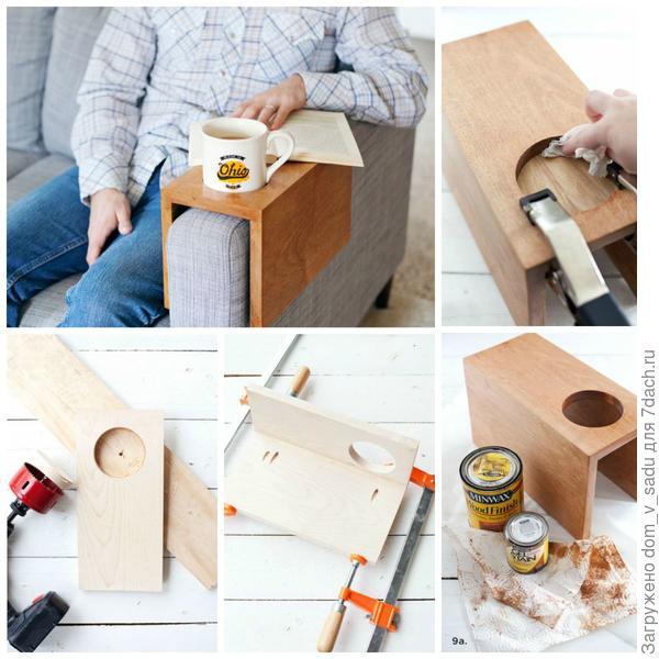Полка-подставка для чашек. Источник: abeautifulmess.com