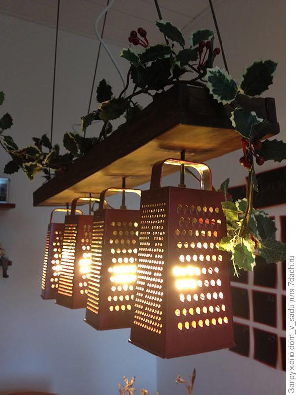 Лампа из терок