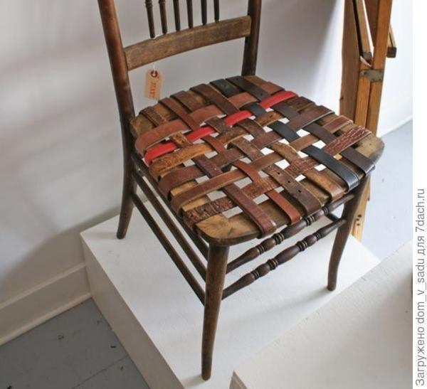 Перетяжка сиденья из ремней