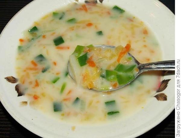 сырный суп с брюквой