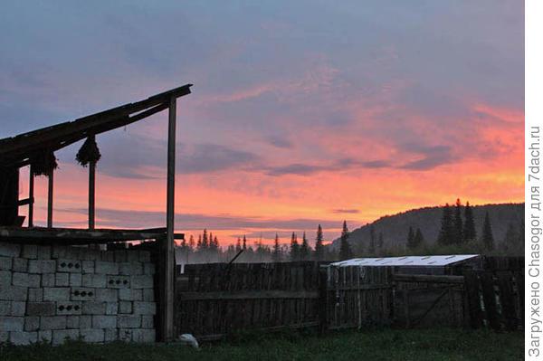 закат над хутором Ясным