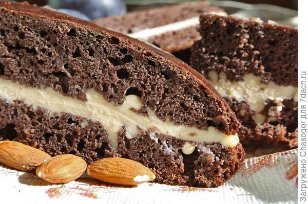 готовый пирог черёмуховый