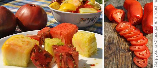 помидоры можно нарезать всякими способами