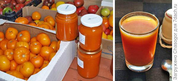соус и сок из томата Хурма