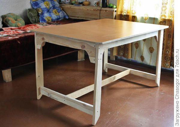 стол установлен