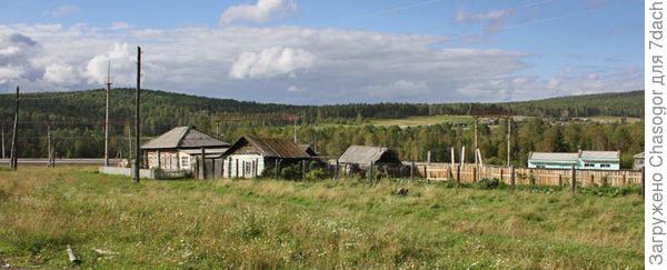 вид от станции на село