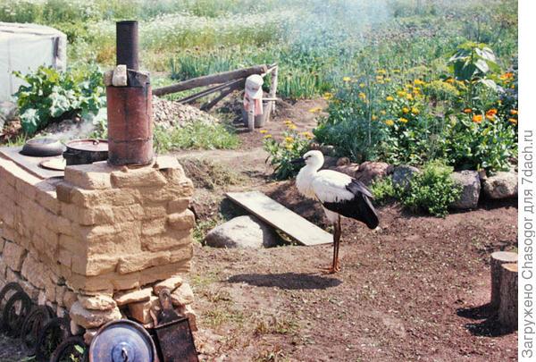 печка с тыла