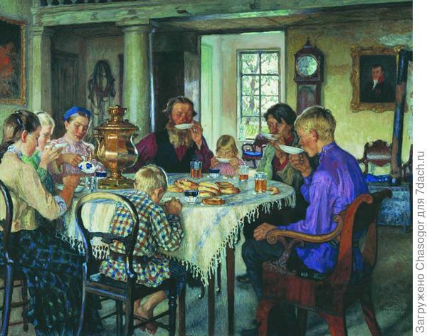 чаепитие в гостиной
